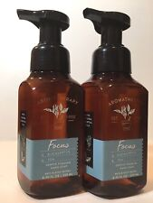 2 BATH & BODY WORKS EUCALYPTUS TEA FOCUS GENTLE FOAMING HAND SOAP WASH 8.75 OZ