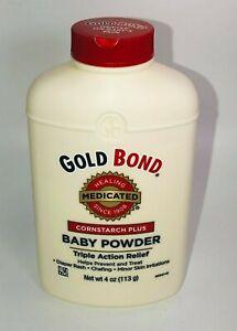 Gold Bond Medicated Cornstarch Plus Baby Powder Triple Action Relief NEW 4 oz