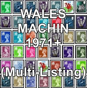 `GB 1971+ WALES Machin Definitives W Series (Multiple Listing) Unmounted Mint