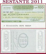 BANCA CATTOLICA DEL VENETO Lire 100 20.10. 1976 AS. CO. COMMERCIANTI VERONA  B61