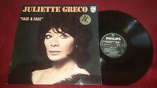 JULIETTE GRECO - FACE A FACE - VINTAGE PHILLIPS RECORDS LP - FRANCE IMPORT