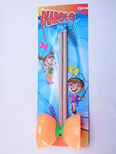 LOT 40742 Diabolo 35cm Jonglierspaß Jonglieren Holzstäbe Kinder orange NEU OVP