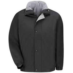 NEW! Red Kap Men's Work Jacket (Black) & Vest Reversible Zip IN/OUT (JN30BK)