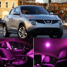 Pink LED Package Interior Kit + Pink License Light LED For Nissan Juke 11-2013