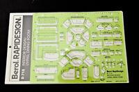 Berol Rapidesign - Interior Design Living Dining Room - R-718 Drafting Stencil