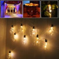 20 LED Star Lights Battery Garden Wedding Fairy String with Festoon Edison Bulbs
