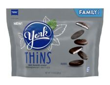 York Thins Dark Chocolate Peppermint Patties 12oz Family Size 1 Pack