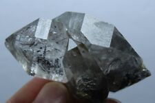 58.7g  Tibetan BLACK Phantom QUARTZ Crystal Double Terminating Specimen F509