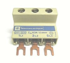 Morsettiera di potenza Telemecanique  GV1-G09,  GV1G09,  63A, 660V, 3 poli