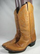 Vintage Justin Western Cowboy Boot Men size 8.5 B Tan