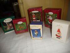 #1028TT MIXED LOT or 6 Hallmark Christmas Ornaments