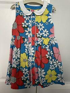 Boden Retro Floral Dress 5-6 Years