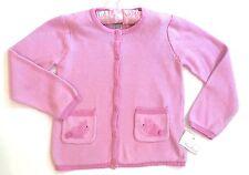 HTF NWT Strasburg Boutique 6 6X 7 Pink Bunny Rabbit Sweater Jacket w/ Pockets