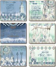 Country Kitchen GYPSY Cork Backed Placemats Set 6 NEW Cinnamon