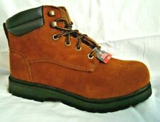 Brahma Work Boots Unisex Men Size 6 Women Size 7.5 Brown Leather Owden New
