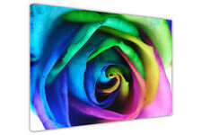 RAINBOW ROSE FLOWER WALL ART CANVAS PICTURES HOME DECORATION FLORAL PHOTOS