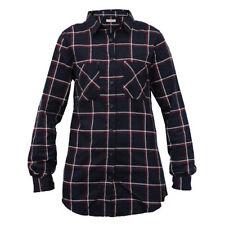 Camisas y tops de mujer de manga larga color principal azul 100% algodón