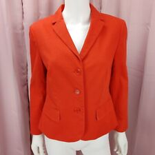 Talbots Women's Orange 3 Button Long Sleeve Blazer Jacket Size 8