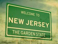 WELCOME TO NEW JERSEY GARDEN STATE HEAVY DUTY USA MADE METAL ADVERTISING SIGN