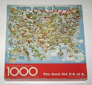 Vintage Springbok GOOD OLD U.S. OF A. 1000 Pieces Bob Martin Missing 1 Piece