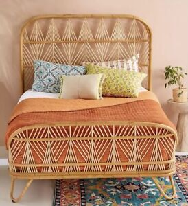 Anthropologie Orange Kantha Velvet Quilt Kingsize BNWT