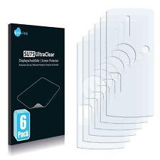 6x Displayschutzfolie für Sony Ericsson K850i (Rückseite) Klar Schutzfolie
