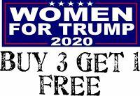 "Women for Trump President Decal Bumper Sticker 2020 8.8"" x 3"" Make America Great"