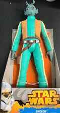 "Star Wars GREEDO w/laser gun 18"" figure  JAKKS PACIFIC 2014 dated"