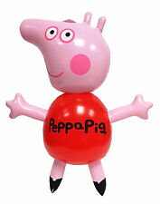 Kids Children Girl Inflatable Toy Blow Up Peppa Pig with Whistle Party Fun