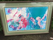 LARGE Mid Century LEROY NEIMAN Print Golf Greats Nicklaus MCM