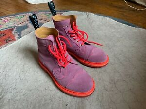Fluevog x Anna Sui Purple Derby Swirl Lace-Up Boots Women's Size 8.5