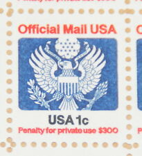 1983 sheet, 1 ¢ Official Mail, Sc# O127