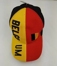 BELGIUM Country Flag HAT CAP Black Red Yellow EUROPE Football Soccer Adjustable
