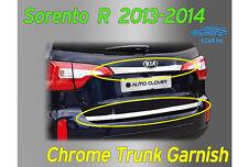 Chrome Rear Trunk Cover Garnish Molding Trim 2Pcs for KIA Sorento 2013~ 2015