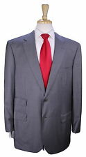* BRIONI * Very Recent Solid Gray Wool 2-Btn Ticket Pocket Suit 44R