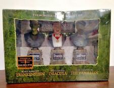 NEW The Monster Legacy Gift Set Frankenstein Dracula Wolf Man Horror Collection