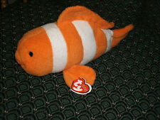 """Ty Pluffies10"""" GILLY (Orange Clown Fish) *Bead eyes* MWMT * RETIRED *RARE* TyLux"""