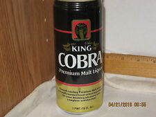 King Cobra Premium Malt Liquor St Louis MO 16 oz beer can bottom opnd