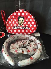 Betty Boop Headband W/ Matching Scrunchie & Small Makeup Bag--ALL NWT!