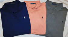 Lot 3 Men's Polo Ralph Lauren SS Classic Fit Polo Shirts Size 3XLT Tall