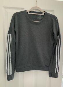 Womens ADIDAS Long Sleeve Running Top Size S Grey Light Fleece Cosy Activewear