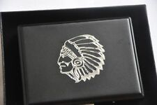 Cigarette Case  Metal Tobacco Cigar Up Storage Box American Indian Head Gift Box