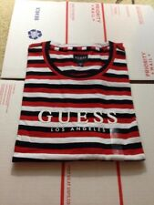NEW With Defect Guess Los Angeles Tilden Red White Black Stripe T Shirt Size XL