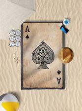 "58""x39"" Ace Of Spades Design Microfibre Beach Towel Sun Bathing *TOWEL ONLY*"
