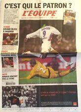 L'Equipe Journal 19/10/2002; Auxerre-Lyon/ Bourgoin Brille/ Grosjean/ Arnaud Vic