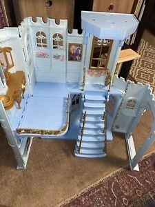 Disney CINDERELLA barbie enchanted evening castle folding dollhouse AS IS