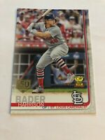 2019 Topps Series 1 Harrison Bader 150th Anniversary Parallel SP