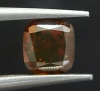 1.03 Radiant Cut Rare RED Diamond Fancy Color Loose Sparkling Real Image ASAAR