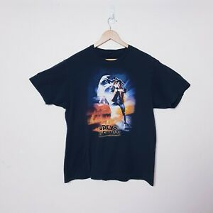 Back to the Future Mens XL Black Vintage Style Cotton T Tee Shirt
