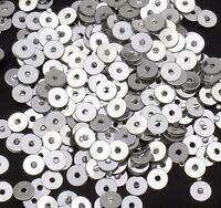 2400 Pailletten 3mm Silber Rund Glatt Perlen Basteln Nähen Dekoration BEST PAI21